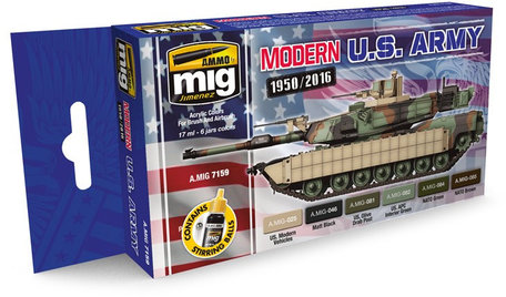AMMO Paint Set: Modern USA Army Colors