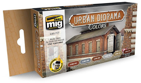 AMMO Paint Set: Urban Diorama Colors