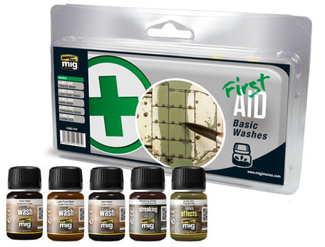 AMMO Paint Set: First Aid Basic Washes