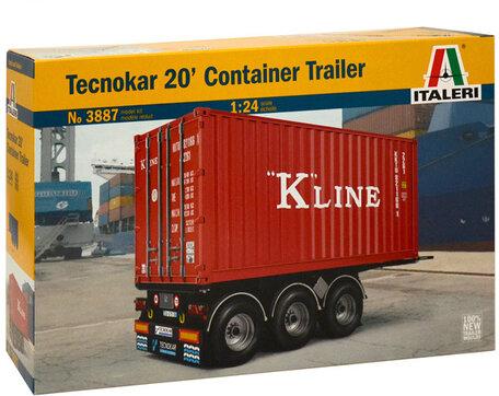 Italeri Tecnokar 20' Container Trailer 1:24