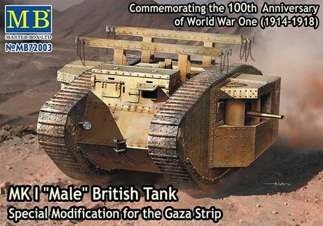 Master Box MK I Male British Tank 1:72