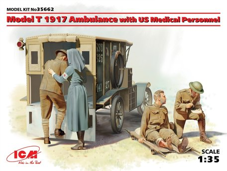 ICM Model T 1917 Ambulance with US Medical Personnel 1:35