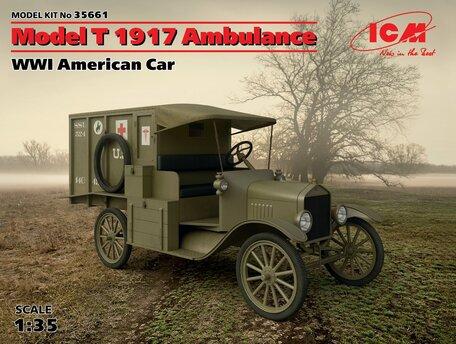 ICM Model T 1917 Ambulance WWI American Car 1:35