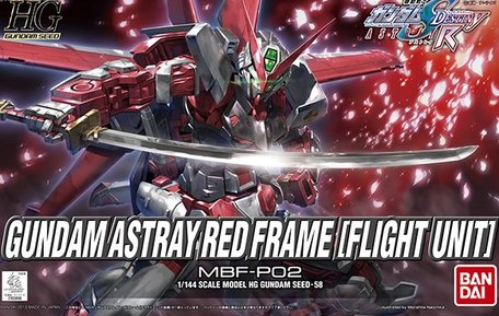 HG 1/144: MBF-P02 Gundam Astray Red Frame with Flight Unit