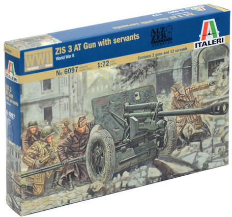 Italeri ZIS AT Gun with Servants 1:72