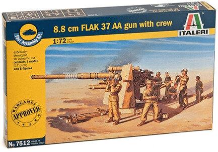 Italeri 8.8 cm. FLAK 37 AA Gun 1:72