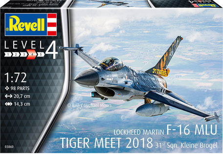 Revell F-16 MLU Tiger Meet 2018 31 Sqn. Kleine Brogel 1:72
