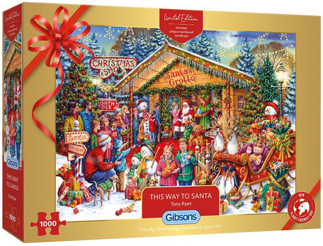 Gibsons Kerstpuzzel 2020 - This Way to Santa (1000)