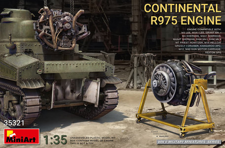 MiniArt Continental R975 Engine 1:35