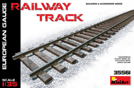 MiniArt Railway Track European Gauge 1:35