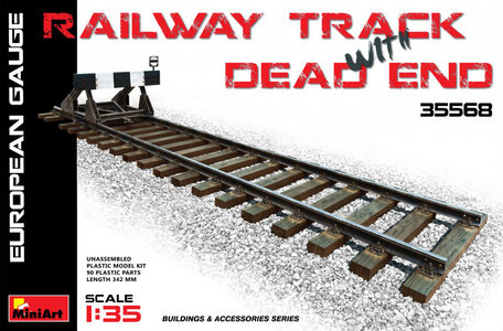 MiniArt Railway Track with Dead End European Gauge 1:35