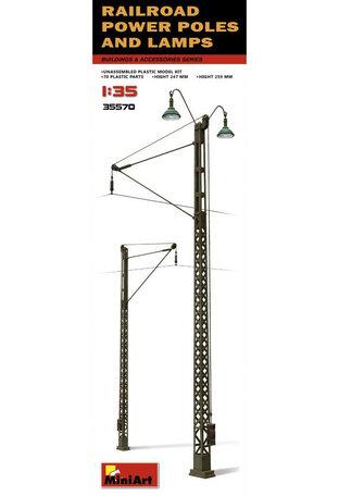 MiniArt Railroad Power Poles & Lamps 1:35