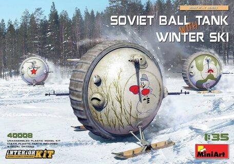 MiniArt Soviet Ball Tank with Winter Ski Interior Kit 1:35
