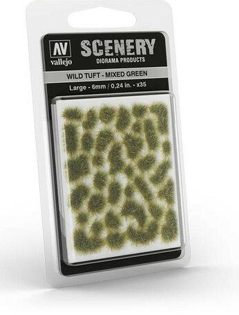 Vallejo Wild Tuft Mixed Green 6mm