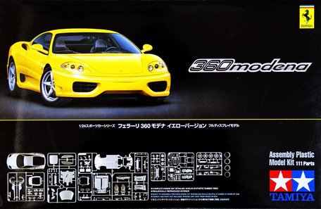 Tamiya Ferrari 360 Modena Yellow Version 1:24