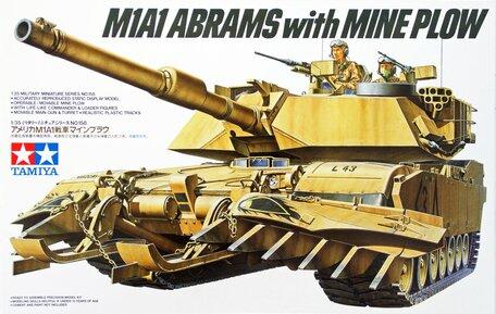 Tamiya U.S. M1A1 Abrams with Mine Plow 1:35
