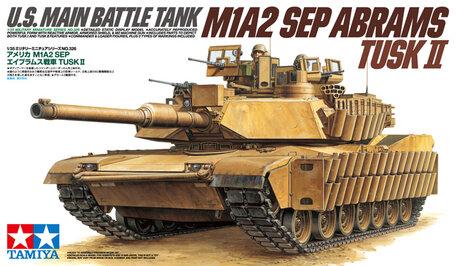 Tamiya U.S. Main Battle Tank M1A2 SEP Abrams Tusk II 1:35