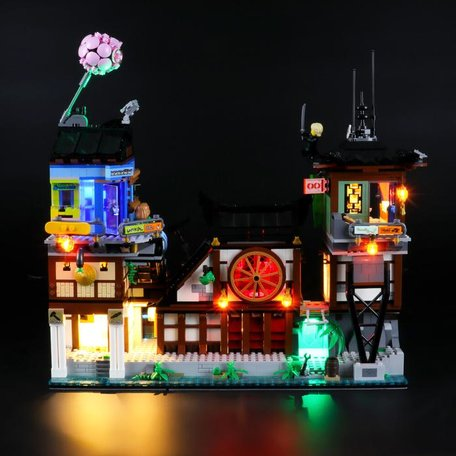 LEGO 70657 Ninjago City Haven + LED Verlichting