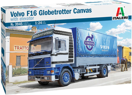 Italeri Volvo F16 Globetrotter Canvas Truck with Elevator 1:24