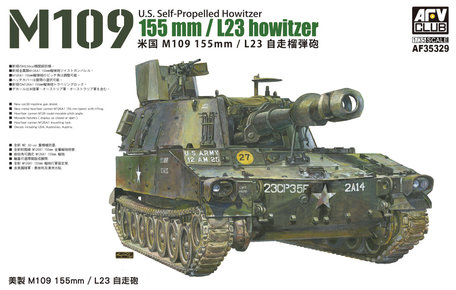 AFV Club M109 155mm/L23 US Self-Propelled Howitzer 1:35