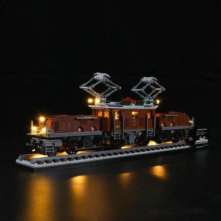 LEGO 10277 Krokodil Locomotief + LED Verlichting