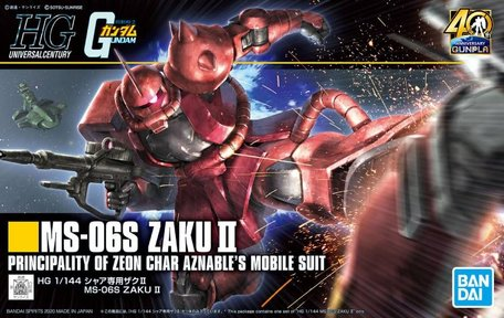 HG 1/144: MS-06S Zaku II 40th Anniversary
