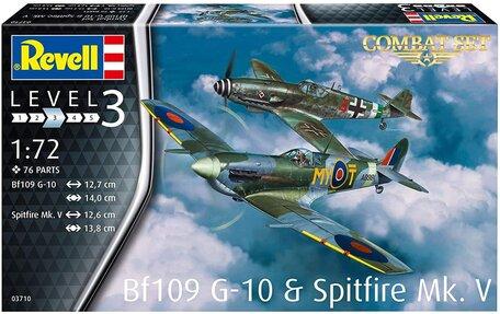 Revell Combat Set Messerschmitt Bf109G-10 & Spitfire Mk.V 1:72