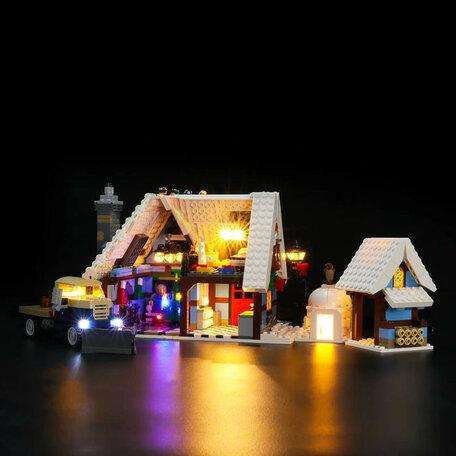 LEGO 10229 Winter Dorpshuisje + LED Verlichting