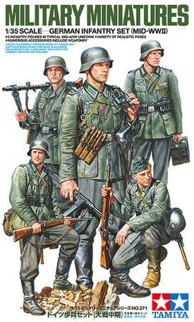 Tamiya German Infantry Set (MID-WWII) 1:35