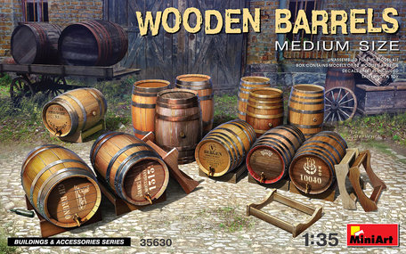 MiniArt Wooden Barrels Medium Size 1:35