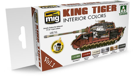 AMMO Paint Set: King Tiger Interior Color