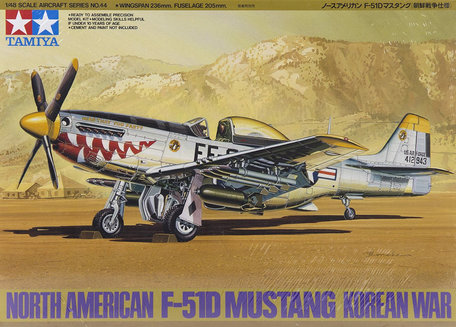 Tamiya North American F-51D Mustang Korean War 1:48