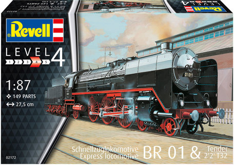 Revell Express Locomotive BR01 with Tender 2'2' T32 1:87