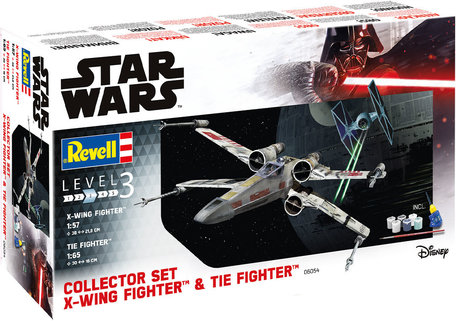 Revell Star Wars Set X-Wing Fighter + TIE Fighter