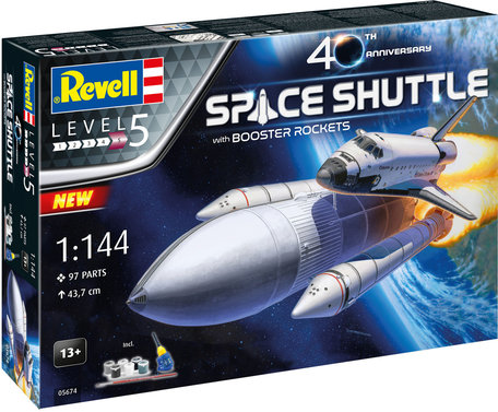 Revell Space Shuttle & Booster Rockets 1:144