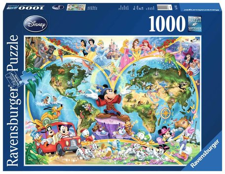 Ravensburger Disney's Wereldkaart (1000)