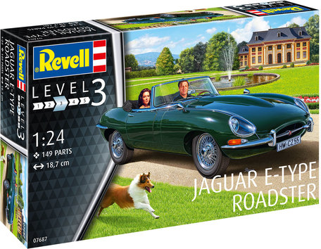 Revell Jaguar E-Type Roadster 1:24