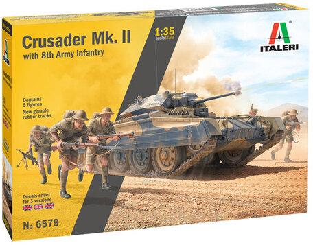 Italeri Crusader Mk. II with 8th Army Infantry 1:35