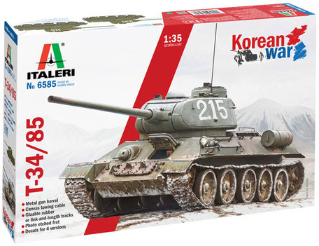 Italeri T-34/85 Korean War 1:35