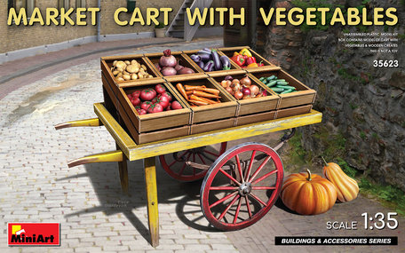 MiniArt Market Cart with Vegetables 1:35