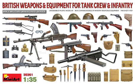 MiniArt British Weapons & Equipment for Tank Crew & Infantry 1:35