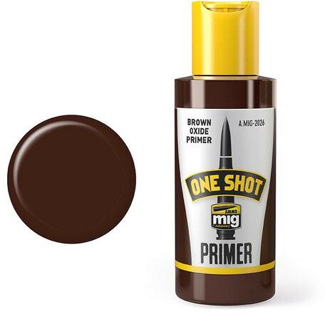 AMMO Mig One Shot Primer Brown Oxide 60 ml