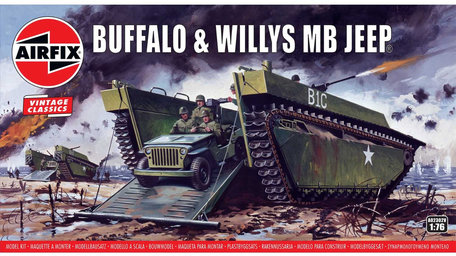 Airfix Buffalo & Willys MB Jeep 1:76