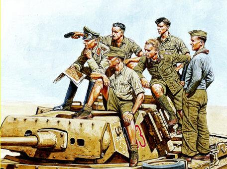 Master Box Rommel and German Tank Crew, DAK 1:35