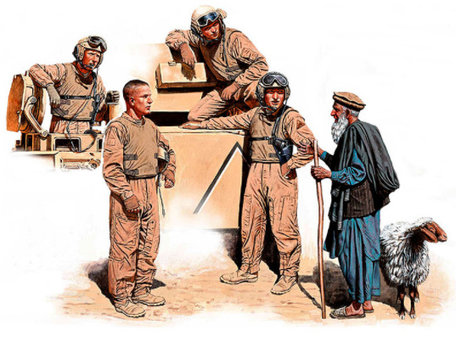 Master Box Modern US Tankmen in Afghanistan 1:35
