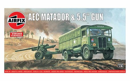 Airfix AEC Matador & 5.5inch Gun 1:76
