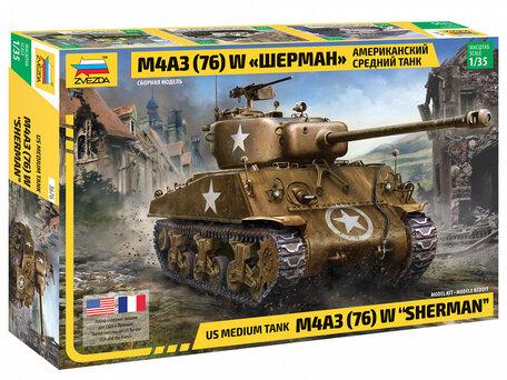 Zvezda US Medium Tank M4A3 (76) W Sherman 1:35