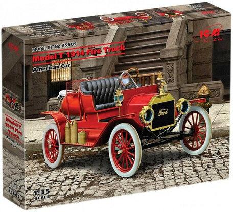 ICM Model T 1914 Fire Truck American Car 1:35