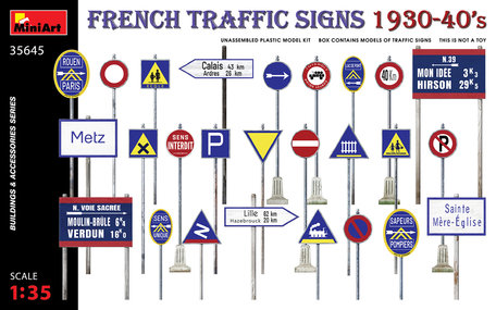 MiniArt French Traffic Signs 1930-40's 1:35