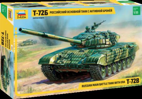 Zvezda Russian Main Battle Tank with ERA T-72B 1:35